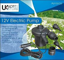 NEW FAST ELECTRIC AIR PUMP 12v CAR PLUG BLOW UP CAMPING BED AIRBED LILO AIRPUMP