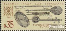 Turkmenistan 10 (compleet Kwestie) MNH 1992 Muziekinstrumenten