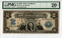 1899 $2 fr 249 Silver Certificate Antique Large Size US Bill Note PMG VF-20 4011
