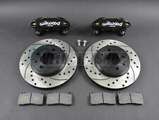 Wilwood DPHA Front Brake Calipers Drilled Slotted Rotors Kit Black 92-00 Civic E