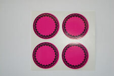 "12  PINK  CROWN GREEN STICKERS  1""   LAWN BOWLS FLATGREEN  AND INDOOR BOWLS"