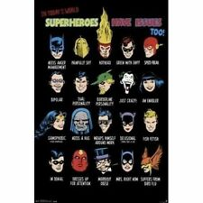 DC COMICS - SUPERHEROES HAVE ISSUES TOO! ~  22x34 POSTER ~ NEW/ROLLED!