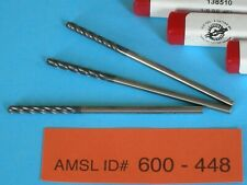 Lot 3 New O D Brand 138510 18 Carbide Altin Ball Nose End Mill Extra Lng 4fl