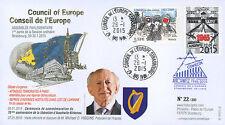 "CE66-IB FDC Conseil de l'Europe ""70 ans Libération Auschwitz Birkenau"" 01-2015"