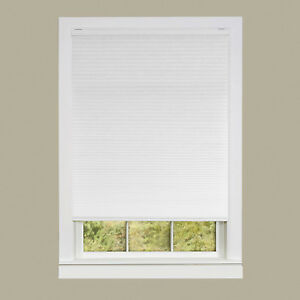 White Cordless Cellular Honeycomb Pleated Shades 3/8-Inch Light Filtering Shade