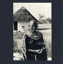Kenya woman w Jewelry Masai femme M BIJOUX Kenya * vintage 60s ethnic nude photo