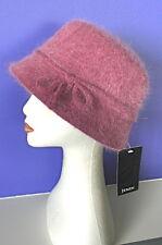 Sassy Ladies ROSE PINK Angora Vintage Style 57cm Cloche Warm WINTER Bucket HAT
