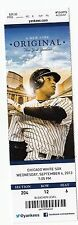2013 YANKEES VS WHITE SOX TICKET STUB 9/4/13 MARIANO RIVERA LAST HOME SAVE