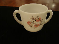 Vintage Fire King Sugar Bowl Fleurette Pattern