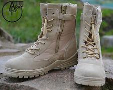 Patriot Ejército Botas militares DE COMBATE DESERT STORM BEIGE TALLA 44