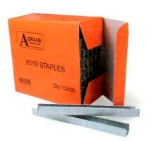 1 BOX 10,000pcs 80/04 GALVANISED STAPLES.
