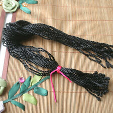 """20pcs 18"""" 2.5mm thick Black Silk Thread Cord String To Charm Necklace ED0354-1"""