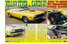 1971 DODGE CHALLENGER 440-SIX PACK CLONE CONVERTIBLE ~ NICE 4-PAGE ARTICLE / AD