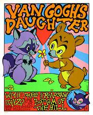 Van Gogh's Daughter 1996 Original Concert Poster By Frank Kozik S/N