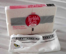 DURU WHITE TURKISH BATH/TURK HAMAMI SOAP with TURKISH BATH KESE MITT, SPA, 400 g