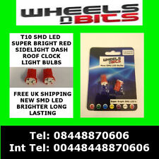 NEW T10 4 Led Smd 501 w5w Super Bright RED Sidelights Dash  Number Plate Bulbs