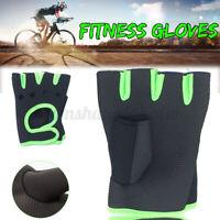 Women Men Half Finger Cycling Bike Sport Gloves Workout Gym Weight Lifting