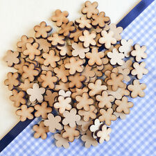 50 x Wooden Cloud Flowers shapes Laser Cut MDF Blank Embellishments Craft 20mm