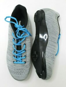 Tommaso Strada Aria Knit Lace Up Dual Compatible Cycling Shoe - Gray - Size 7.5