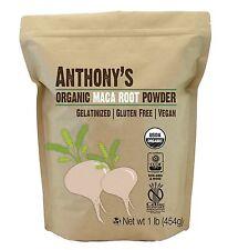 Anthony's Organic Maca Root Powder Gelatinized (1lb) Gluten-Free Non-GMO