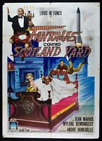 Werbeplakat Fantomas Gegen Scotland Yard André Hunebelle Louis De Funès M285