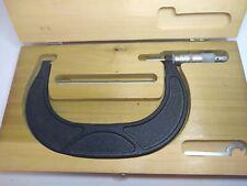 Scherr Tumico 4 5 Blade Micrometer Original Wooden Case Great Shape