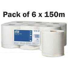Tork M2 Centre Feed White Wiping Basic Paper Towel Roll Centrefeed Pack 6 x 150m