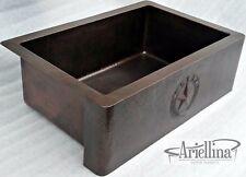 "36"" Ariellina Farmhouse 14 Gauge Copper Kitchen Sink Lifetime Warranty AC1925"