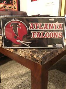 Atlanta Falcons NFL Rico Industries  Laser Inlaid Metal License Plate Tag