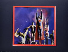 SUPERBOY & LEGION Of SUPER HEROES PRINT PROFESSIONALLY MATTED Alex Ross art