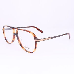 Salvatore Ferragamo Eyeglasses SF2855 214 Havana Rectangle Men 57x13x145
