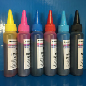 6x100ml Refill Ink Epson Stylus Photo P50 R265 R270 R285 R290 R360 RX560 Non OEM