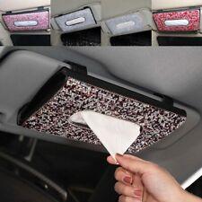 Car Visor Tissue Holder Hanging Leather Rhinestone Clip Plush Inside Soft  Gift