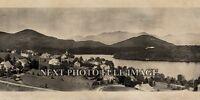 "1914 Lake Placid, New York Vintage Panoramic Photograph 38"" Long"