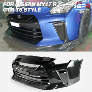 TS Style Carbon Fiber + FRP Front Bumper Body Kits For MY17 Nissan GTR R35