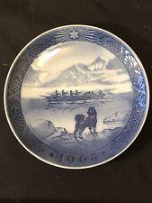 Royal Copenhagen Christmas Plate 1968 The Last Umiak