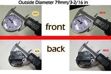 Silver Rim Quartz Clock Insert Arabic Numbers White Face-Diameter 79mm/3-2/16 IN