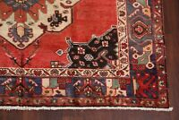 Vintage Geometric Hand-Knotted Bakhtiari Area Rug Hand-Knotted Wool Carpet 6x10