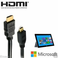 Microsoft Surface 2 HDMI MICRO HD VIDEO OUT a HDMI TV Monitor Cavo 2M