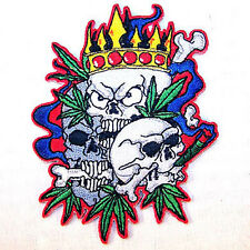 King Pot Skulls Embroidered Patch P387 biker jacket novelty skeleton head new