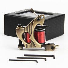 Iron Frame 10 Wraps 32mm Copper Wire Coils Tattoo Machine Gun Shader Golden