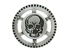6 Steampunk Air Pirate Skull 1.25 inch ( 31 mm ) Metal Buttons Silver Color
