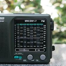 TECSUN R-909 Portable Radio FM MW(AM) SW(Shortwave) 9 Bands World Receiver Hot