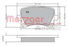 Bremsbelagsatz, Scheibenbremse für Bremsanlage Hinterachse METZGER 1170005