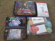 Nintendo New 3DS XL Black Handheld System+31 Games+More bundle lot pokemon mario