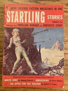 STARTLING STORIES - SUMMER 1955 3 Complete Sci Fi Novelets  Leinster FN AT134