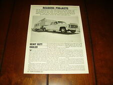 1979 CHEVROLET ONE TON DUALLY 454 TURBOCHARGED  ***ORIGINAL 1988 ARTICLE***