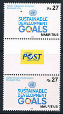 Mauritius 2016 Sustainable Goals GUTTER PAIRS MNH