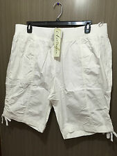 Womens Sz 26 Autograph Smart White Pure Cotton Elastic Waist Shorts