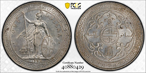 1900 1900-B GREAT BRITAIN TRADE DOLLAR SILVER COIN PRID-9 BOMBAY MINT PCGS AU-58